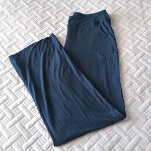 Soma Lounge Pants Blue Stretch Knit Womens Pjs XS
